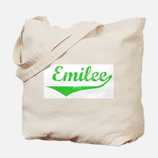 Emilee Vintage (Green) Tote Bag