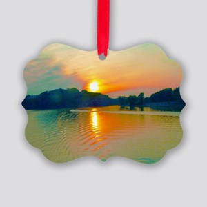 Tenneseee River Scene Ornament
