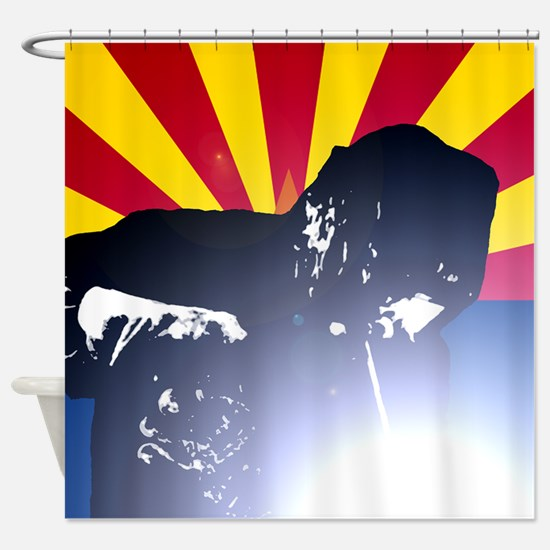 Welding: Arizona State Flag & Welde Shower Curtain