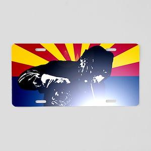 Welding: Arizona State Flag Aluminum License Plate