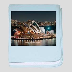 Sidney Opera House baby blanket