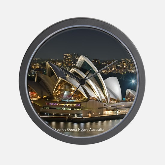 Sidney Opera House Wall Clock