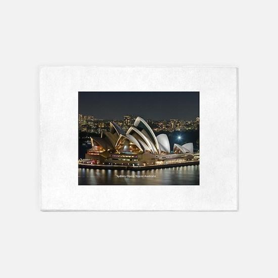 Sidney Opera House 5'x7'Area Rug