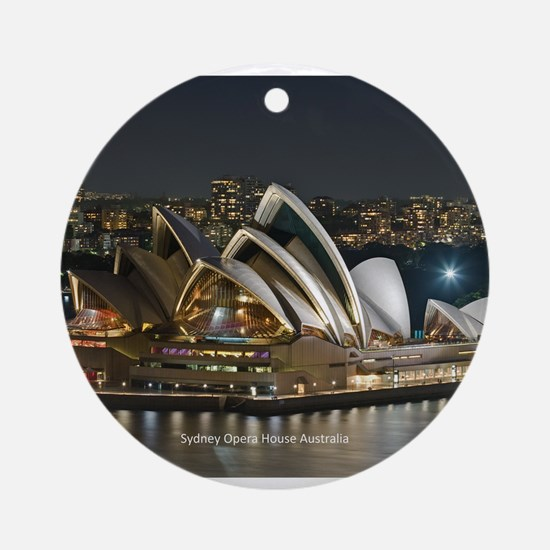 Sidney Opera House Round Ornament
