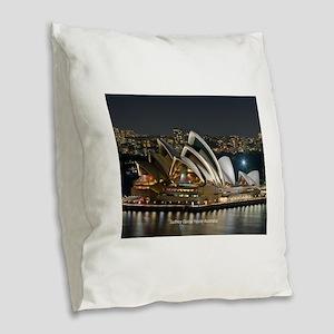 Sidney Opera House Burlap Throw Pillow