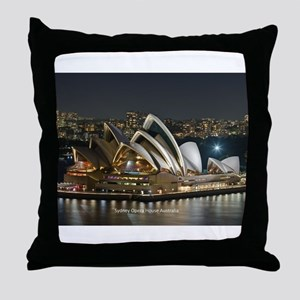 Sidney Opera House Throw Pillow