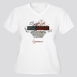 Rise Above Women's Plus Size V-Neck T-Shirt