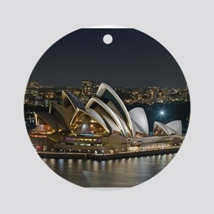 Sidney Opera House Round Ornament