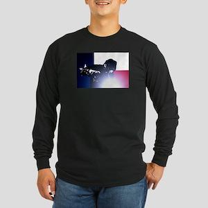 Welding: Texas State Flag Long Sleeve Dark T-Shirt