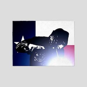 Welding: Texas State Flag & Welder 5'x7'Area Rug