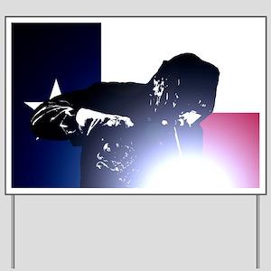 Welding: Texas State Flag & Welder Yard Sign