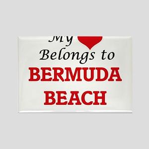 My Heart Belongs to Bermuda Beach Texas Magnets