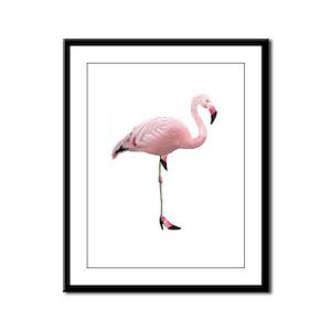 Flamingo Shoes Framed Panel Print
