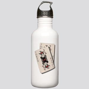 Joker Playing Cards Stainless Water Bottle 1.0L