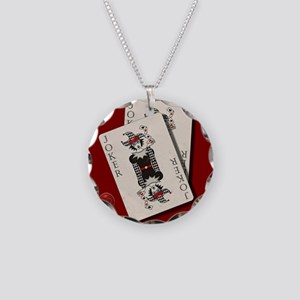 Joker playing cards Necklace Circle Charm