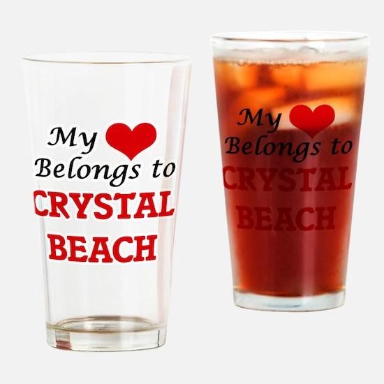 My Heart Belongs to Crystal Beach T Drinking Glass