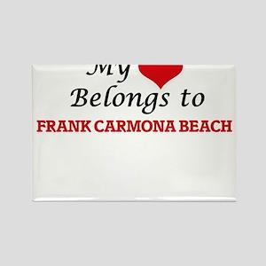 My Heart Belongs to Frank Carmona Beach Te Magnets