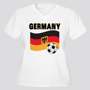 Germany Women's Plus Size V-Neck T-Shirt