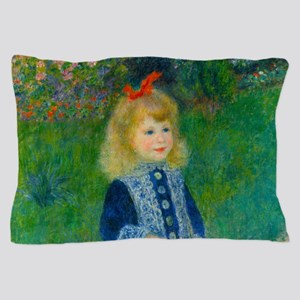 A Girl with a Watering Can by Renoir Pillow Case