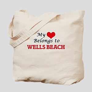 My Heart Belongs to Wells Beach Maine Tote Bag