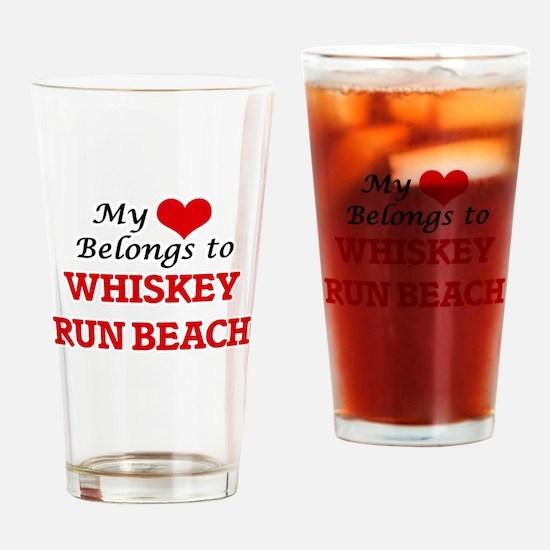 My Heart Belongs to Whiskey Run Bea Drinking Glass