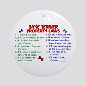 Skye Terrier Property Laws 2 Ornament (Round)