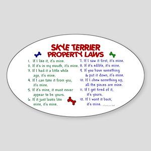 Skye Terrier Property Laws 2 Oval Sticker