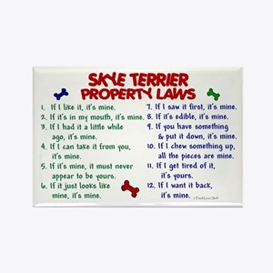 Skye Terrier Property Laws 2 Rectangle Magnet