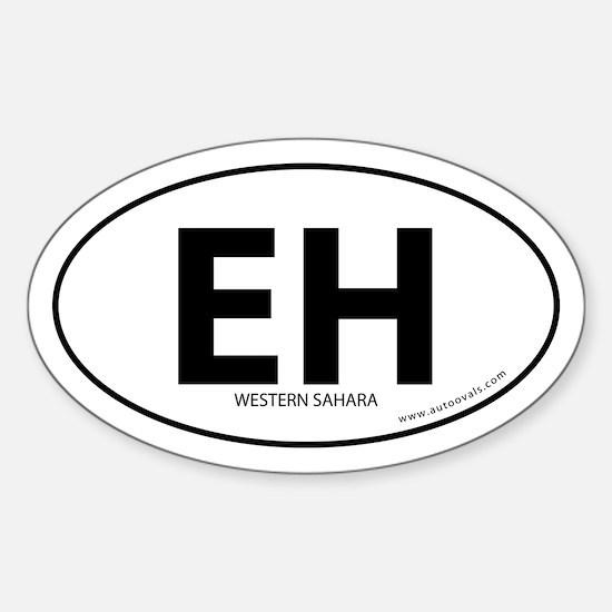 Western Sahara EH bumper sticker -White (Oval)