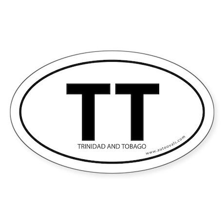 Trinidad & Tobago bumper sticker -White (Oval)