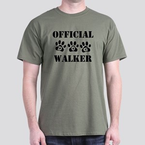 Official Dog Walker Dark T-Shirt
