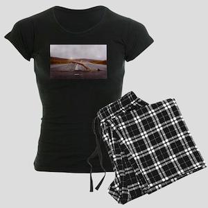 Swimming Down the Street Women's Dark Pajamas