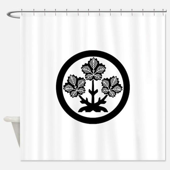Suwa paper mulberry leaf Shower Curtain