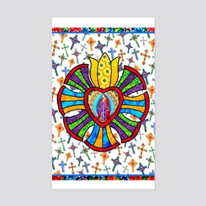 Guadalupe Red Milagro Rectangle Sticker