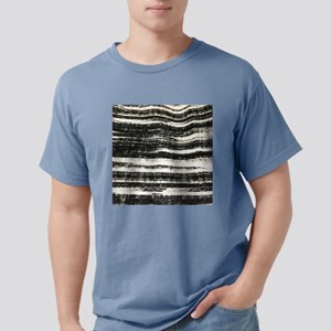 abstract lines black brushstroke T-Shirt