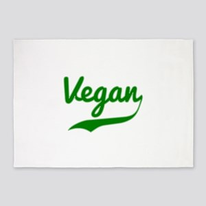 Vegan Typography 5'x7'Area Rug