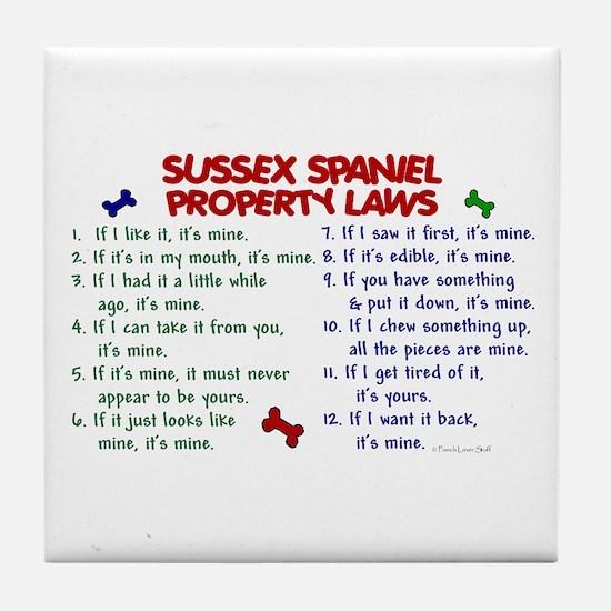 Sussex Spaniel Property Laws 2 Tile Coaster