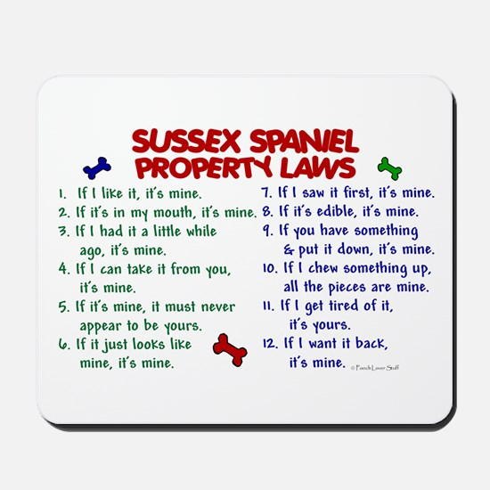 Sussex Spaniel Property Laws 2 Mousepad