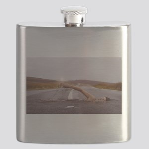 Swimming Down the Street Flask