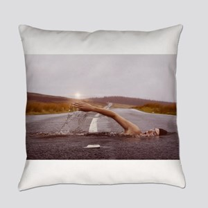 Swimming Down the Street Everyday Pillow