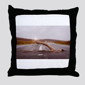 Swimming Down the Street Throw Pillow
