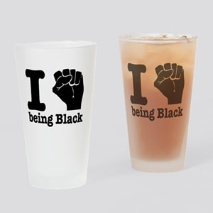 I love being black Drinking Glass