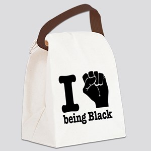 I love being black Canvas Lunch Bag
