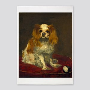A King Charles Spaniel by Edouard Manet 5'x7'Area