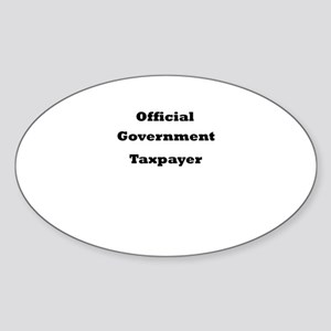 Official Government Taxpayer Oval Sticker