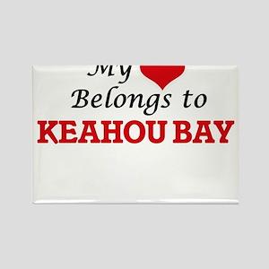 My Heart Belongs to Keahou Bay Hawaii Magnets