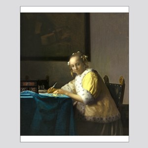 A Lady Writing by Johannes Vermeer Posters