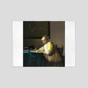 A Lady Writing by Johannes Vermeer 5'x7'Area Rug