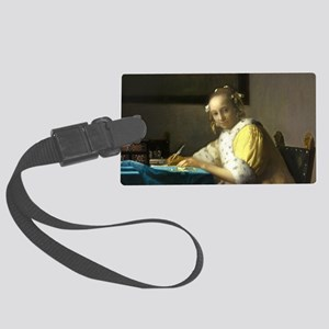 A Lady Writing by Johannes Vermeer Luggage Tag