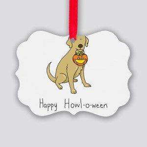 Happy Howl-o-ween - Halloween Dog Picture Ornament